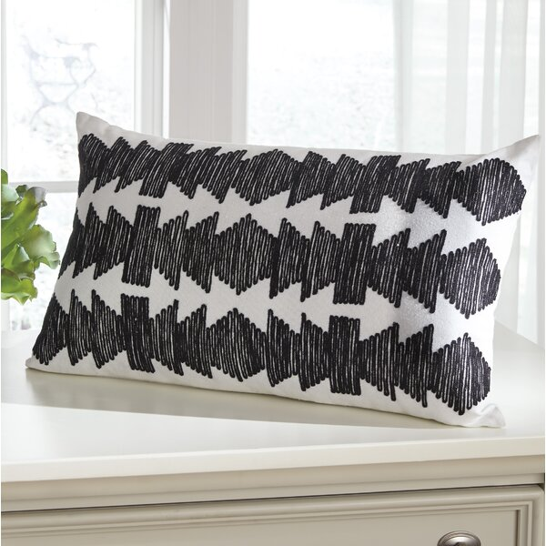Wyble 100% Cotton Lumbar Pillow by Bungalow Rose| @ $31.99